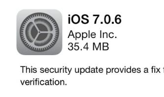 İOS 7.0.6 Yayınlandı!